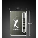 Focus Cigarette Case Dispenser with Butane Jet Torch Lighter (Holds 10) BLACK GOLF