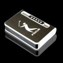 Focus Sigaretta Caso Dispenser con gas Butano Jet Torcia più Leggero (Contiene 10) NERO