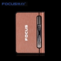 Focus Cigarette Case Dispenser with Butane Jet Torch Lighter (Holds 10) PINK