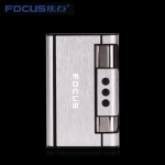 Focus Cigarett Fall Dispenser med Butan Jet Torch-Tändare (Rymmer 8) SILVER