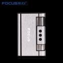 Focus Zigaretten-Etui-Spender mit Butan Jet Torch Feuerzeug (Hält 8) SILBER