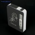 USB cigarette case black