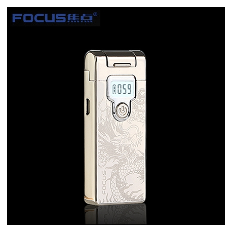 Focus intelligence plasma USB charge cigarette lighter with LED display Silver