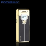 Focus intelligence plasma USB cigarette lighter with LED display Black and Gold