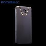 Focus Metall USB elektrischer leichter - Edge Schwarz
