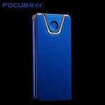 Focus Metal USB electric lighter - Edge Blue