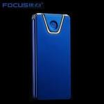 Focus Metall USB elektrischer leichter - Edge Blau