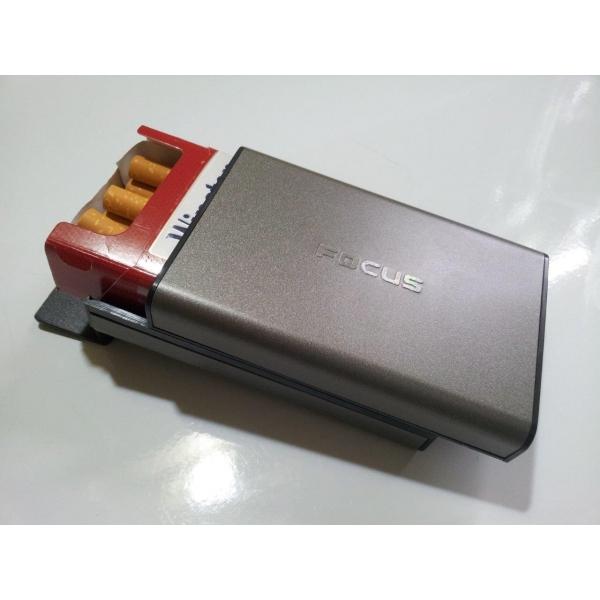 etui pour paquet 20 cigarettes noir focus