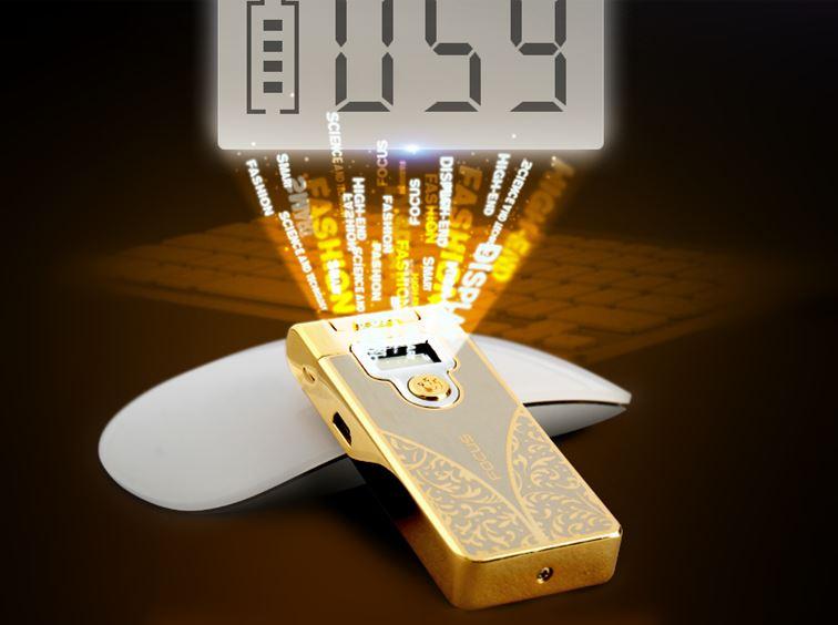 briquet arc USB AVEC AFFICHAGE
