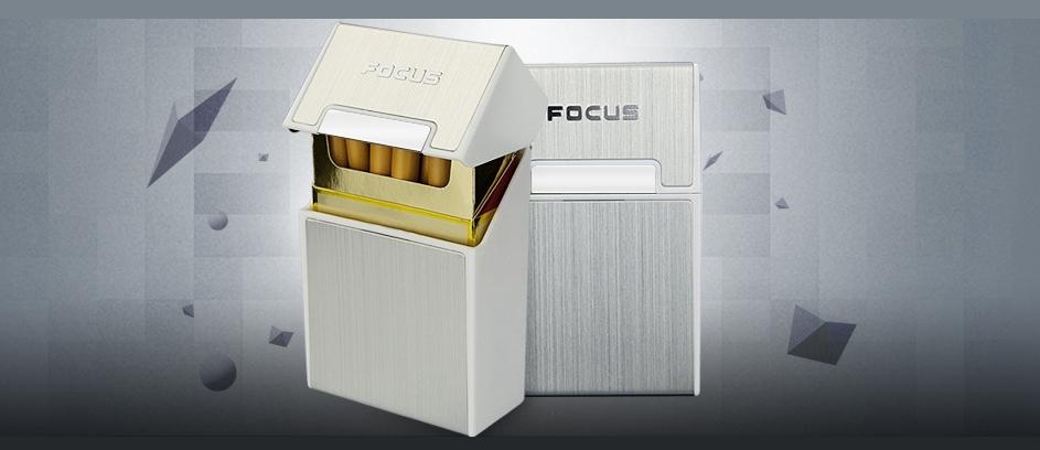 Cache paquet 20 cigarettes couleur Argent