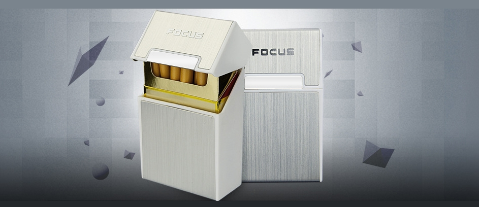 Focus Cigarette Box 20 cigarettes Silver
